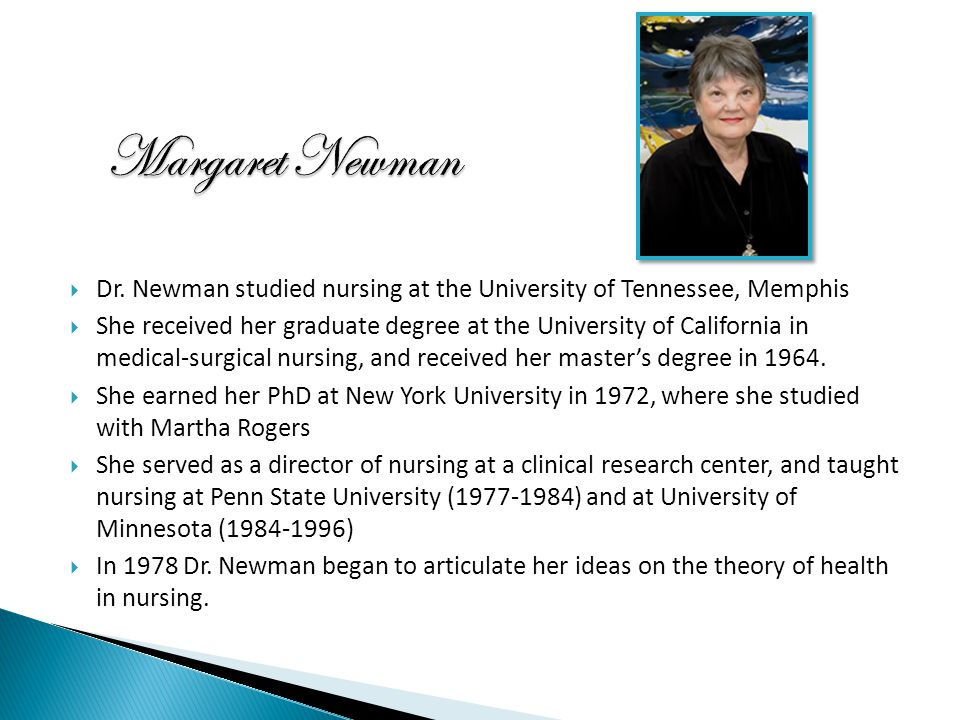 newmans health theory critique Originally designed to be used in nursing it can be used by other health professions (dr betty neuman) theorist and a succinct discussion of the theory.