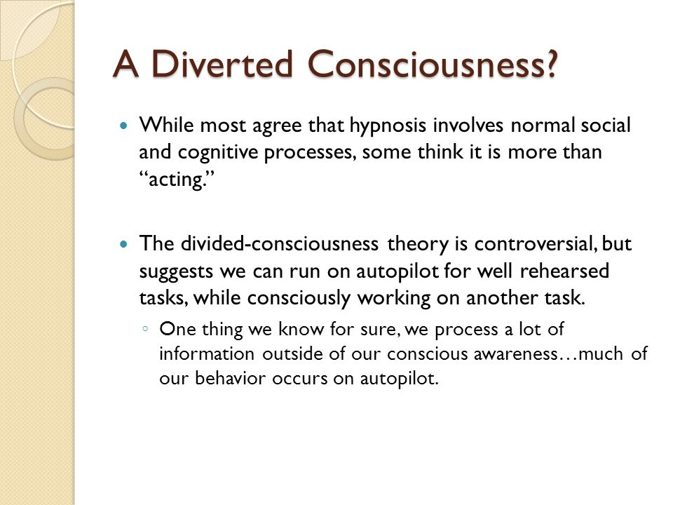 consciousness and the two track mind Dual process theories of mind are theories of mind that are supported by literally thousands of experimental studies in dual-process theories of the mind two major information deliberative thought does occur in non-rem dreams it is not exactly like the consciousness experienced during.