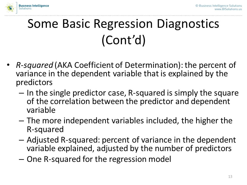 Some Basic Regression Diagnostics (Cont'd)