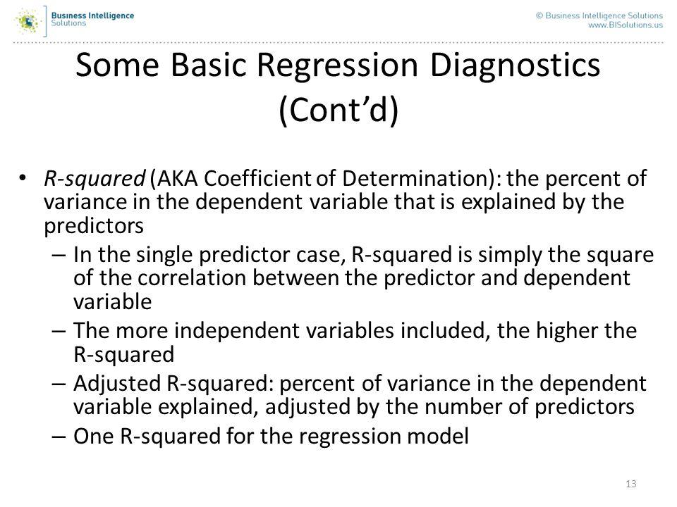 Some Basic Regression Diagnostics (Cont'd)