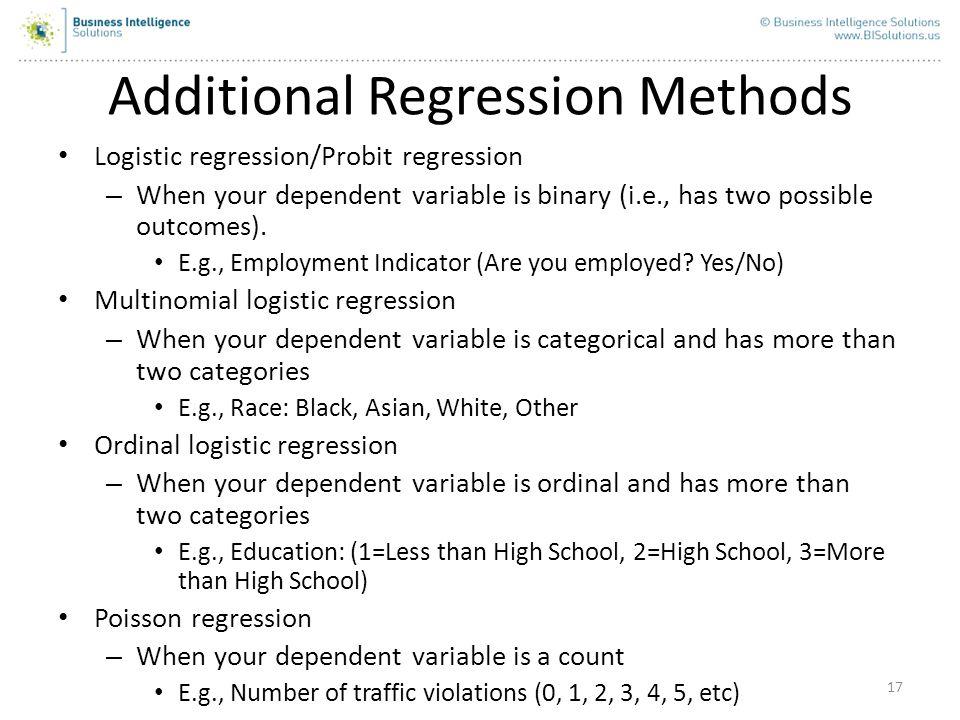 Additional Regression Methods