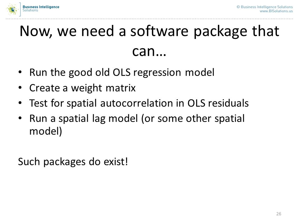 Now, we need a software package that can…