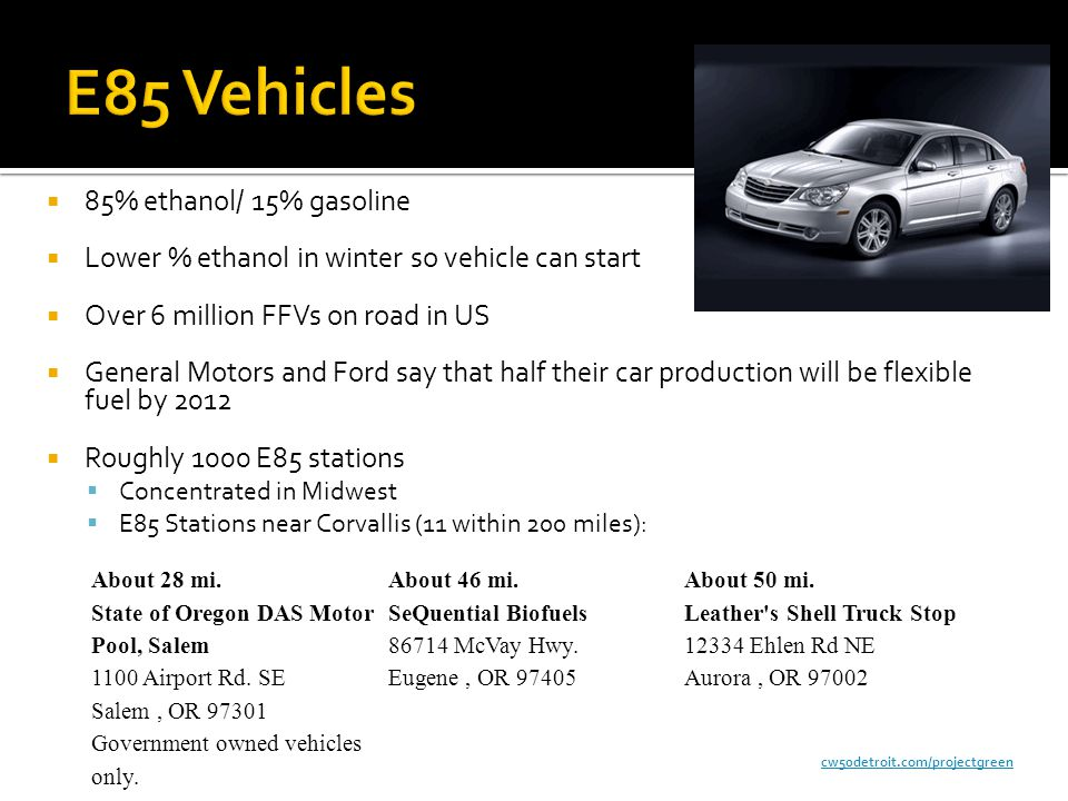 E85 Gas Stations >> Cellulosic Ethanol and E85 Vehicles - ppt video online download