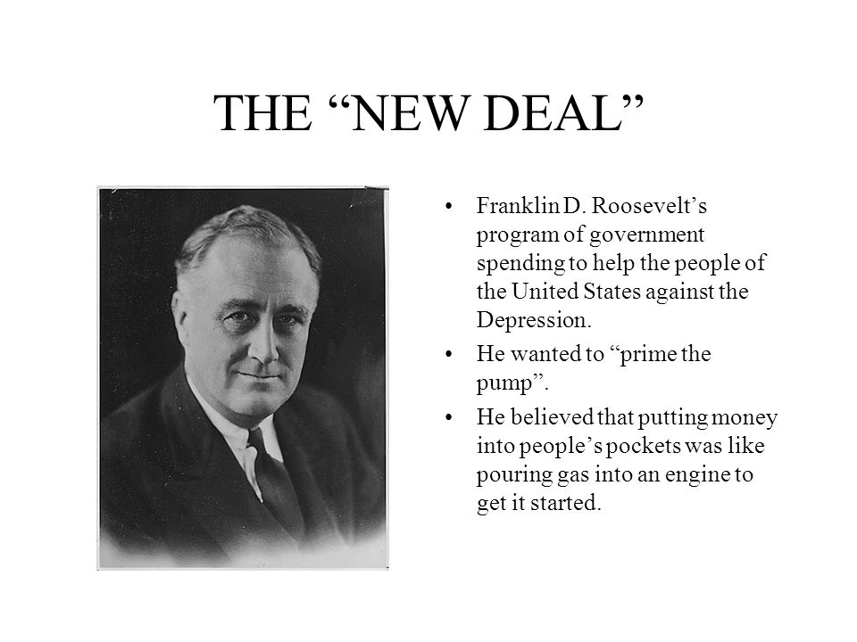 franklin roosevelt and the new deal in the united states President franklin d roosevelt secretary henry the only light in the darkness was the administration of mr roosevelt and the new deal in the united states.