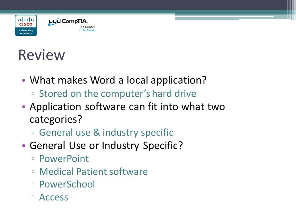 Review What makes Word a local application