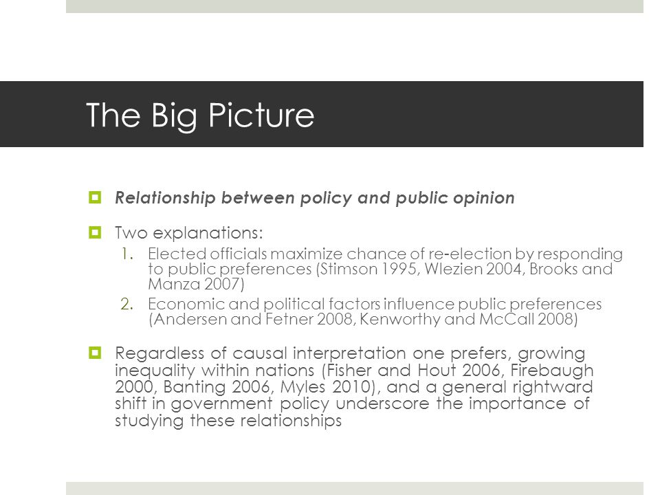 examine the relationship between politics and public policy