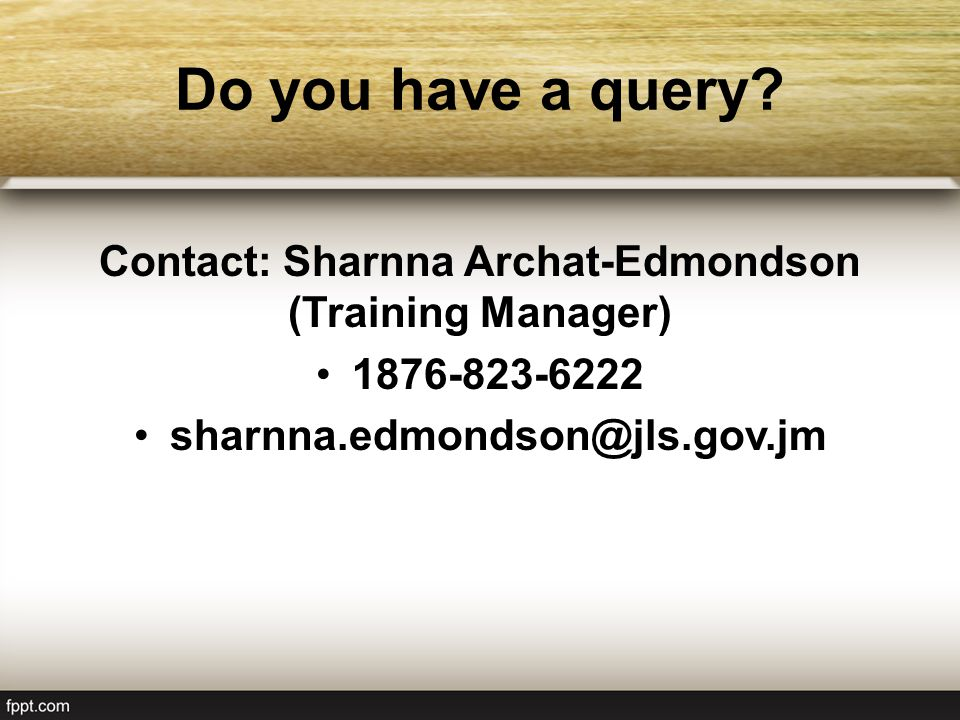Contact: Sharnna Archat-Edmondson (Training Manager)