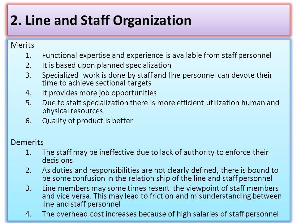 2. Line and Staff Organization