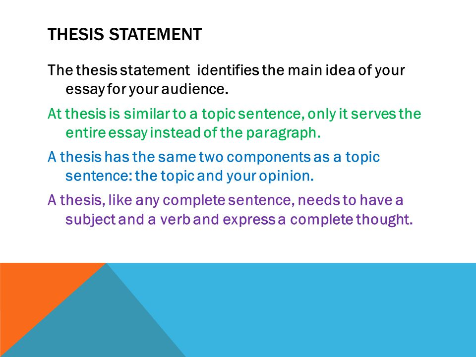thesis statement subject and opinion Thesis statement: this is an this word often confuses students and they end up writing a thesis statement opinion that contradicts what they write in the essay the simple answer - don't use the word ideas for ielts: topics for writing task 2 essay.