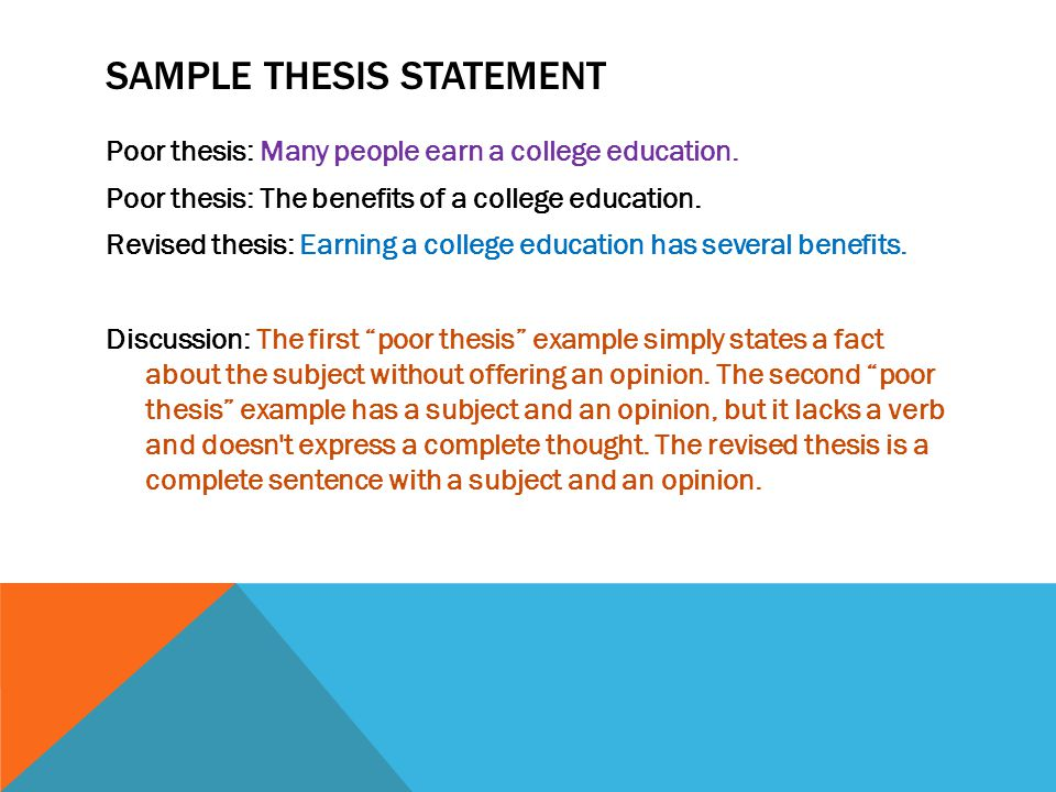 thesis statement higher education This post gives you some argumentative thesis statement examples to get you on the right track, and take your essay from a b-movie to a blockbuster hit essay writing blog and give students who are better in other areas a greater chance to further their education topic #2.