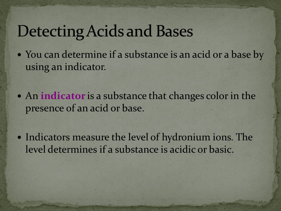 Detecting Acids and Bases
