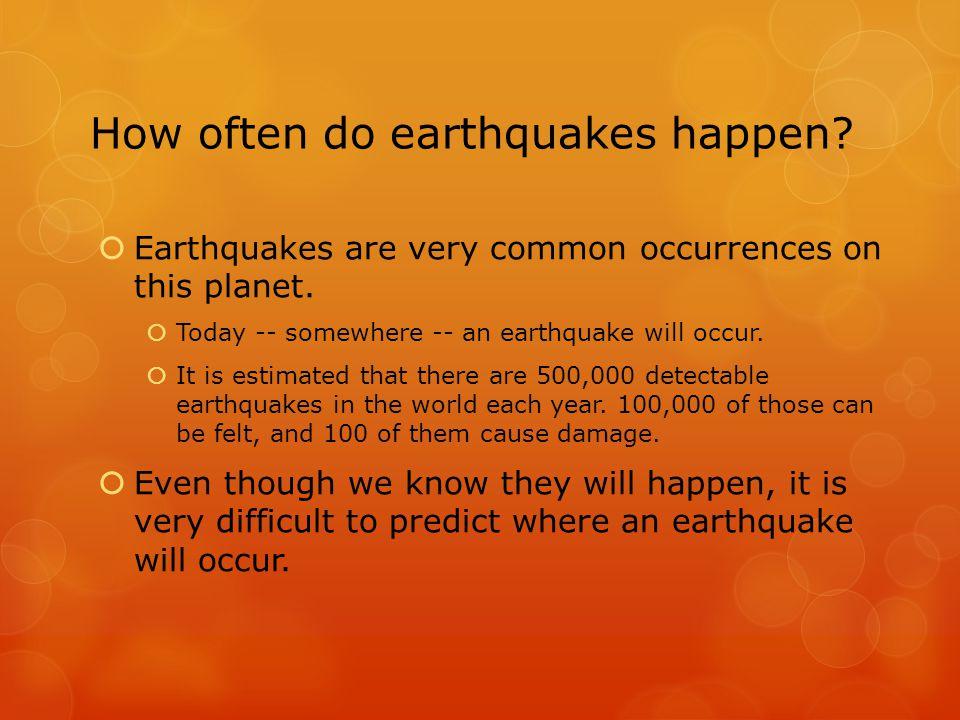where do earthquakes occur pdf
