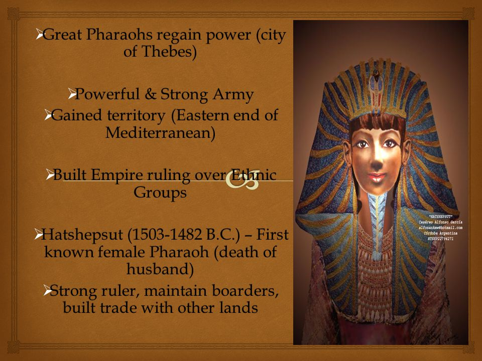 Great Pharaohs regain power (city of Thebes)