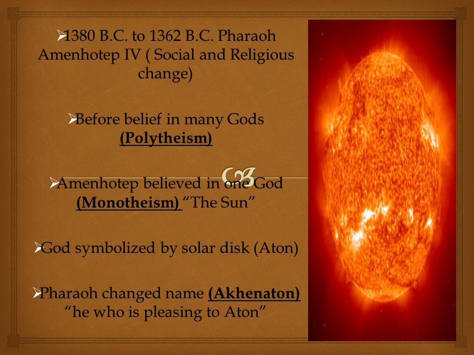 Before belief in many Gods (Polytheism)