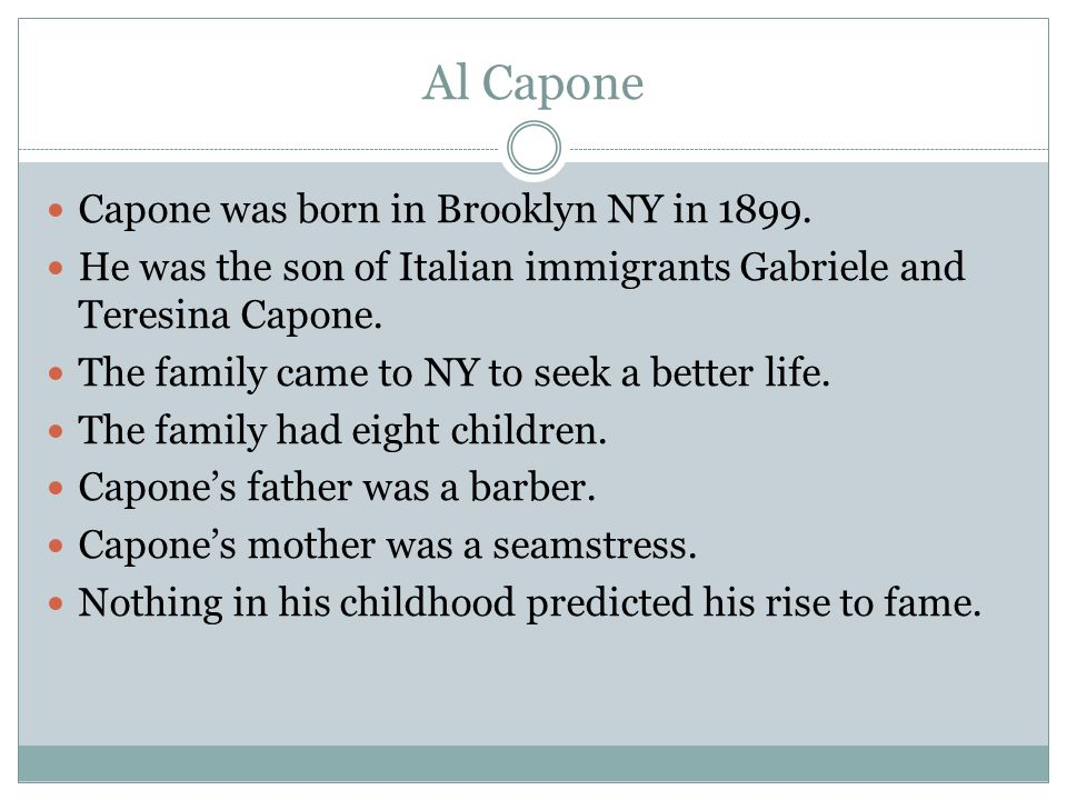 a biography of alphonse capone and his rise to power Perhaps the most famous criminal in all of history, al capone was a legendary gangster who rose to power and fame in the 1920s learn about the.