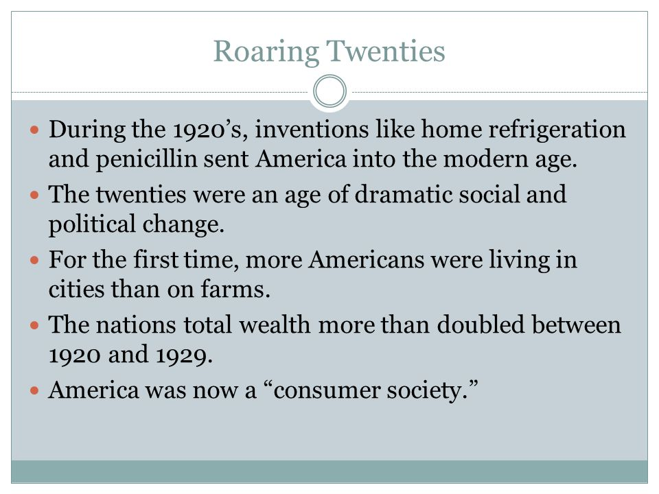 comparing the roaring twenties to today s america The other prohibition: opiate addiction in the roaring '20s  in its early years,  americans consumed staggering amounts of alcohol: from 58  mental  depression, physical suffering, financial distress, comparison of  as for the  present new york city ordinance, we could not very well get on without it.