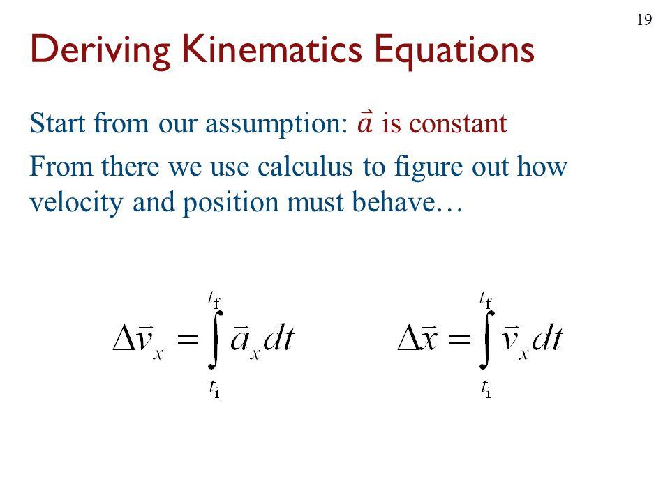 kinematic equations