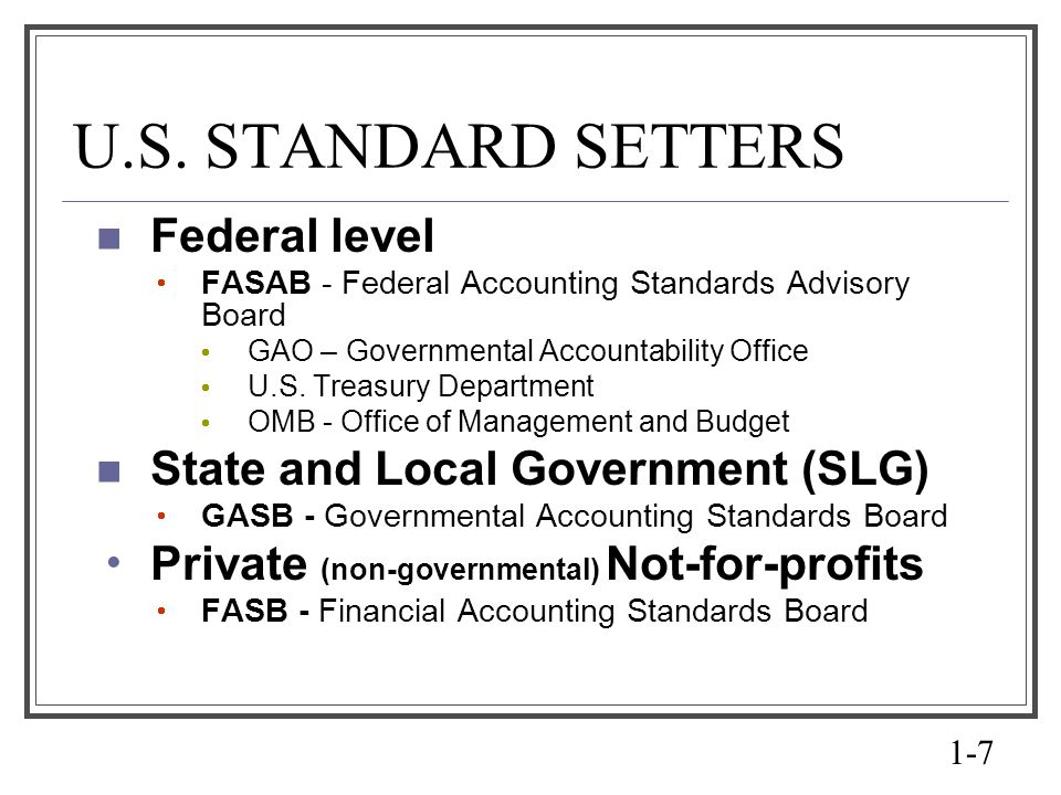an introduction to the governmental accounting standards board and financial accounting standards bo The governmental accounting standards board (gasb) is the source of  generally accepted  the gasb is subject to oversight by the financial  accounting foundation (faf), which selects the members of the gasb and the  financial.