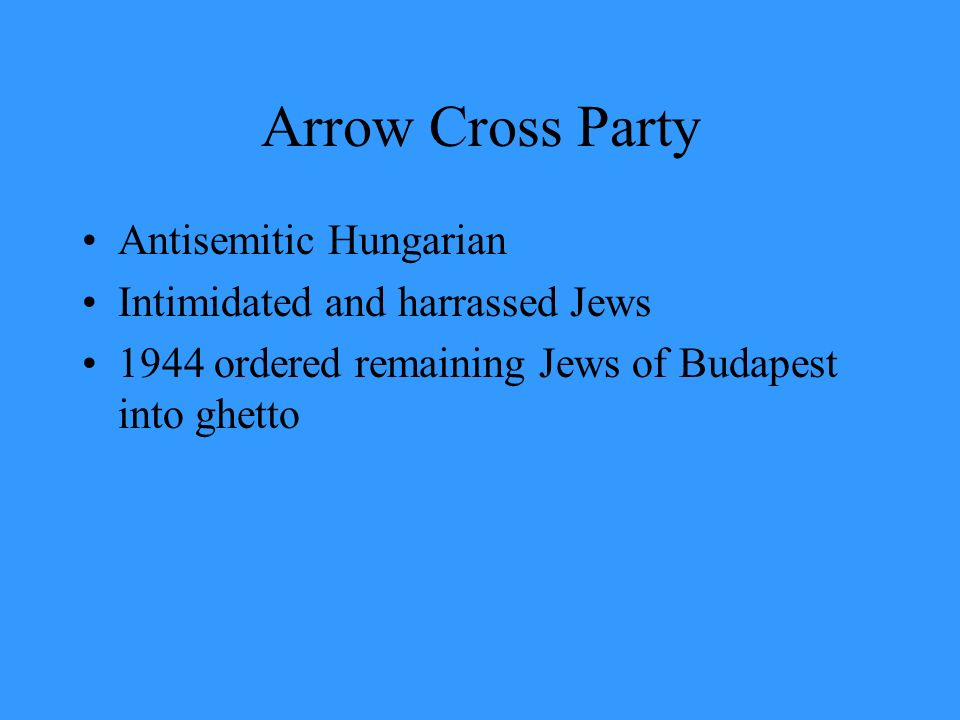 Arrow Cross Party Antisemitic Hungarian Intimidated and harrassed Jews