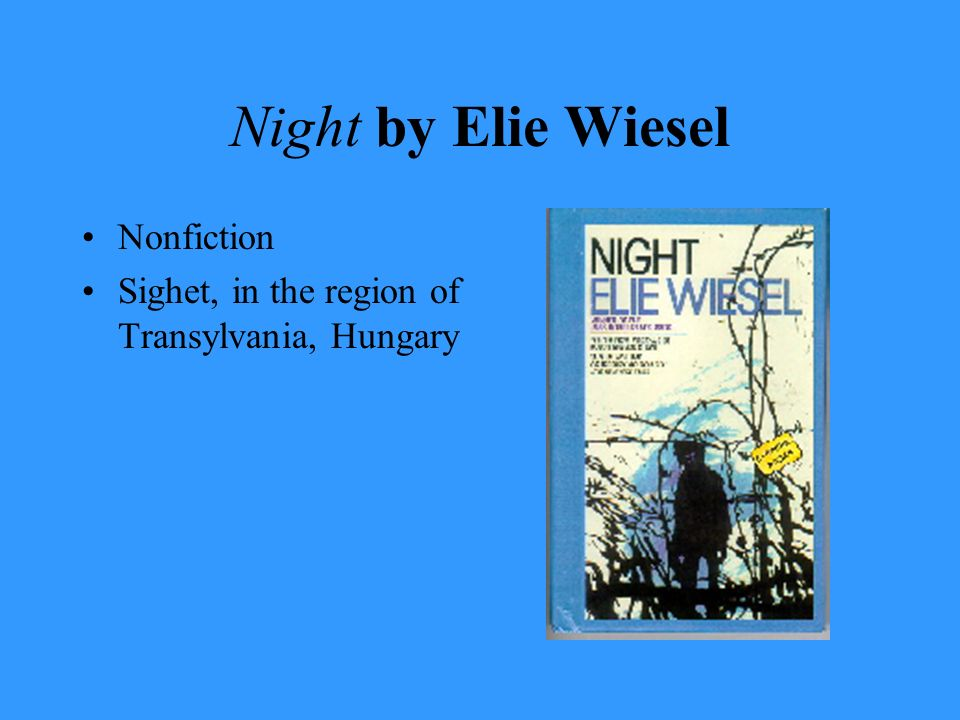 Night by Elie Wiesel Nonfiction