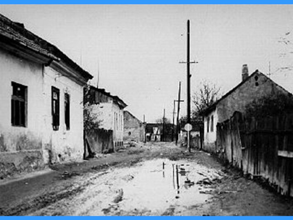 A deserted street in the area of the Sighet Marmatiei ghetto