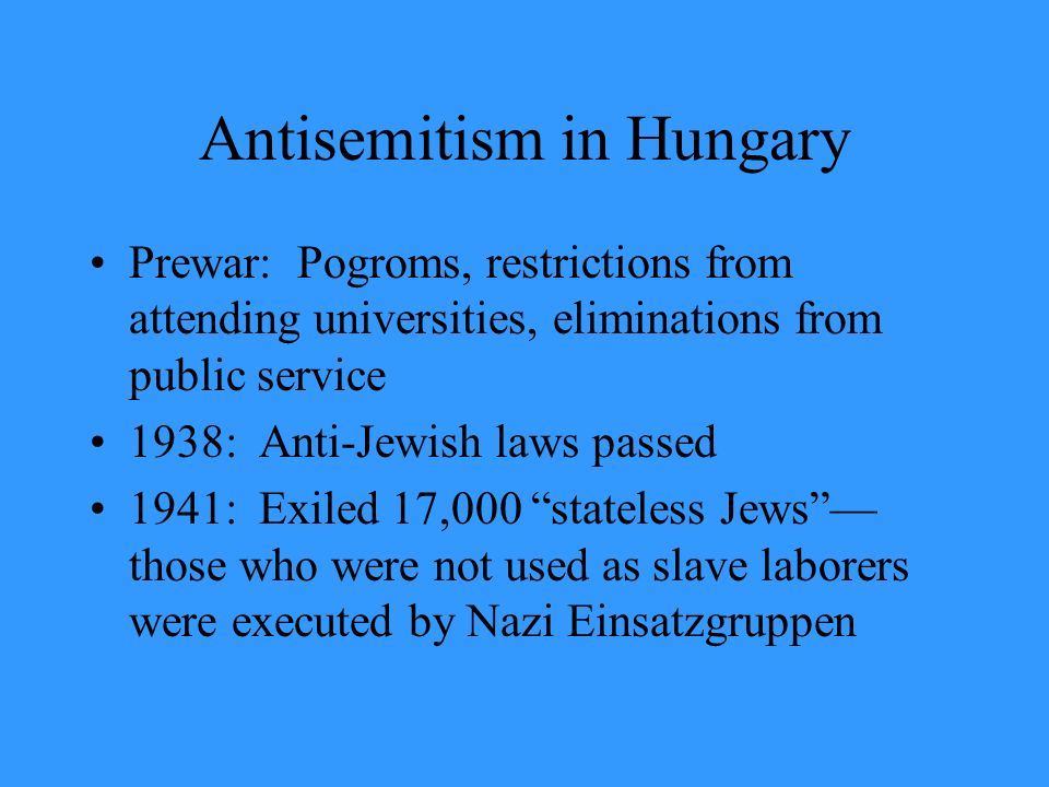 Antisemitism in Hungary