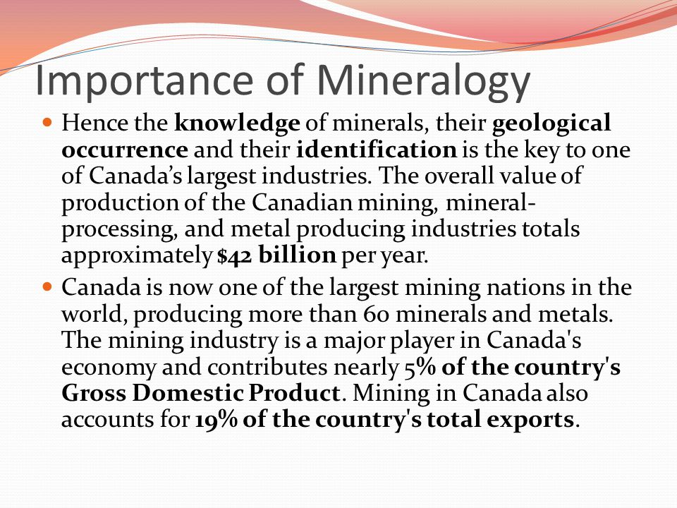 the importance of the mining industry in canada On sunday, march 5, 2017, microsoft canada is co-sponsoring along with   mining and five senior execs of the mining and technology industry will  digital  transformation is of the utmost importance in the mining and oil and.