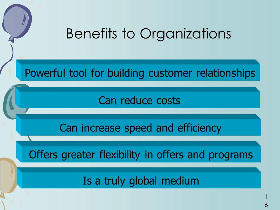 Benefits to Organizations