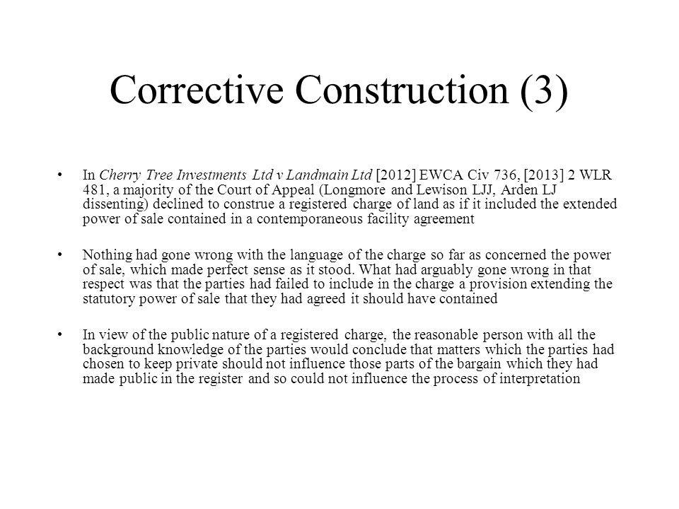 cherry tree v landmain rectification in contract ppt