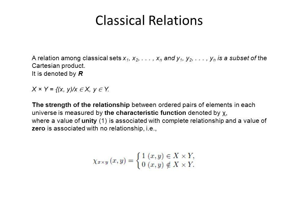 cartesian product and relationship