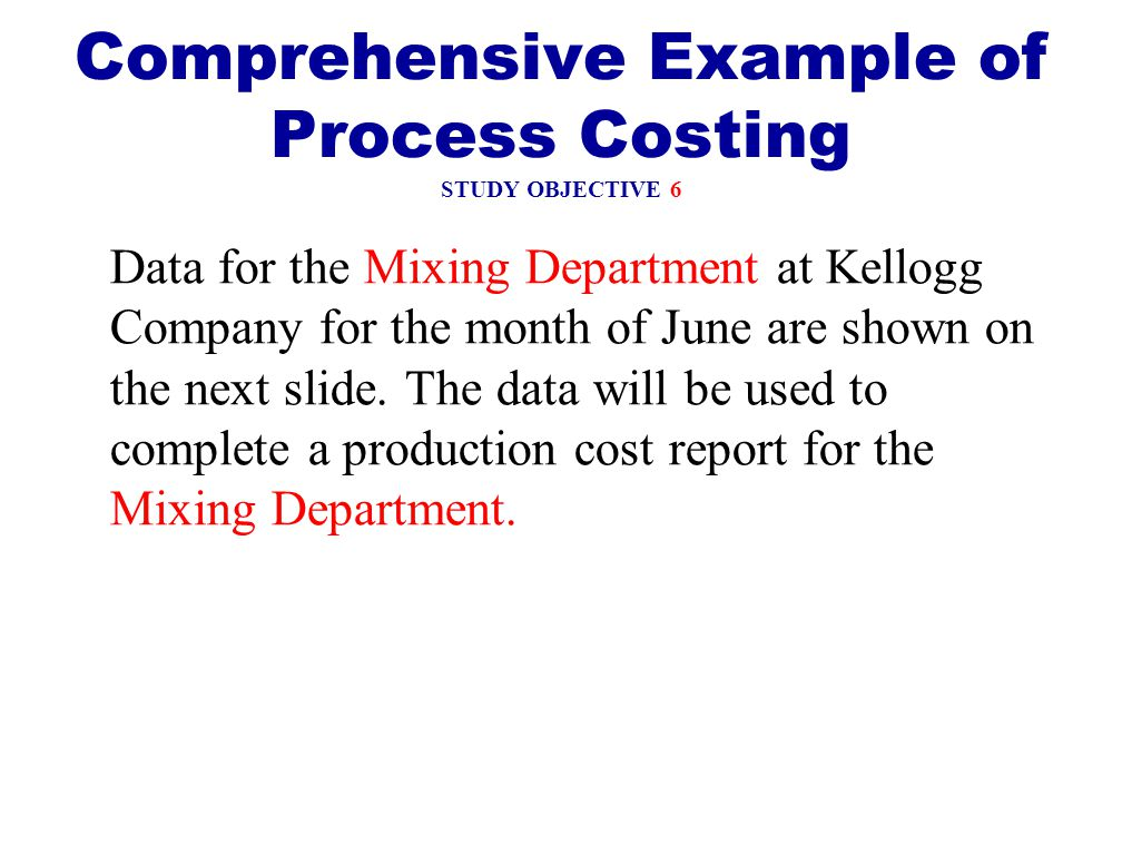 objectives of process costing Standard costing involves using the  what are the major objectives of standards costing  it is indeed just like a number against which subsequent process.