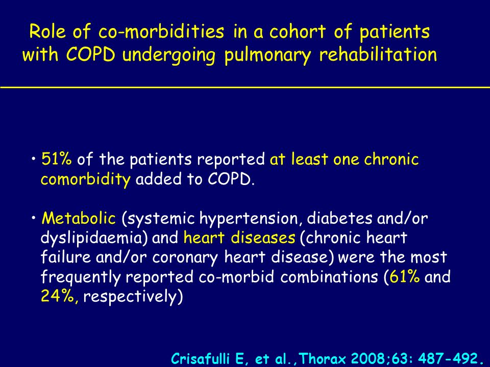 Role of co-morbidities in a cohort of patients with COPD undergoing pulmonary rehabilitation