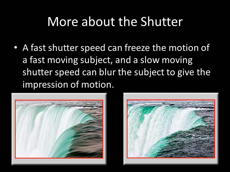 More about the Shutter