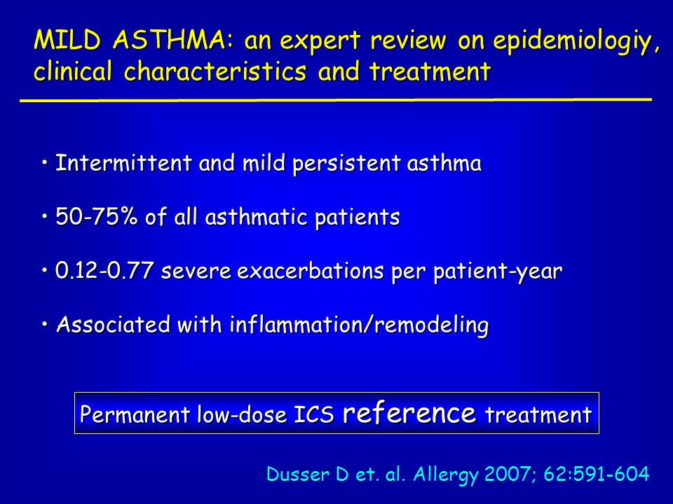MILD ASTHMA: an expert review on epidemiologiy, clinical characteristics and treatment