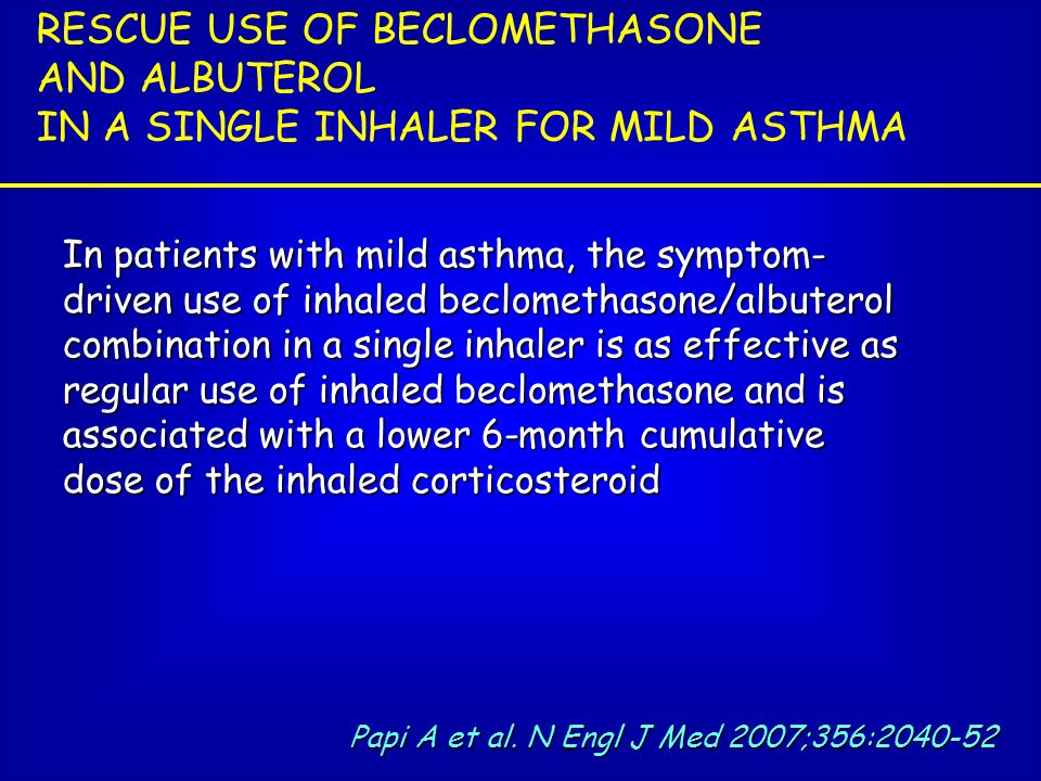RESCUE USE OF BECLOMETHASONE