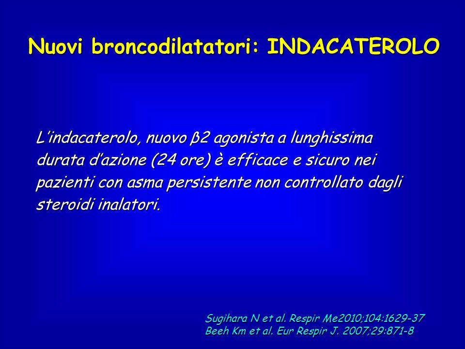 Nuovi broncodilatatori: INDACATEROLO