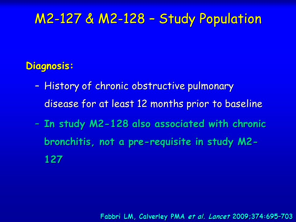 M2-127 & M2-128 – Study Population