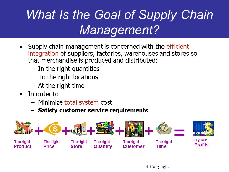 What Is the Goal of Supply Chain Management