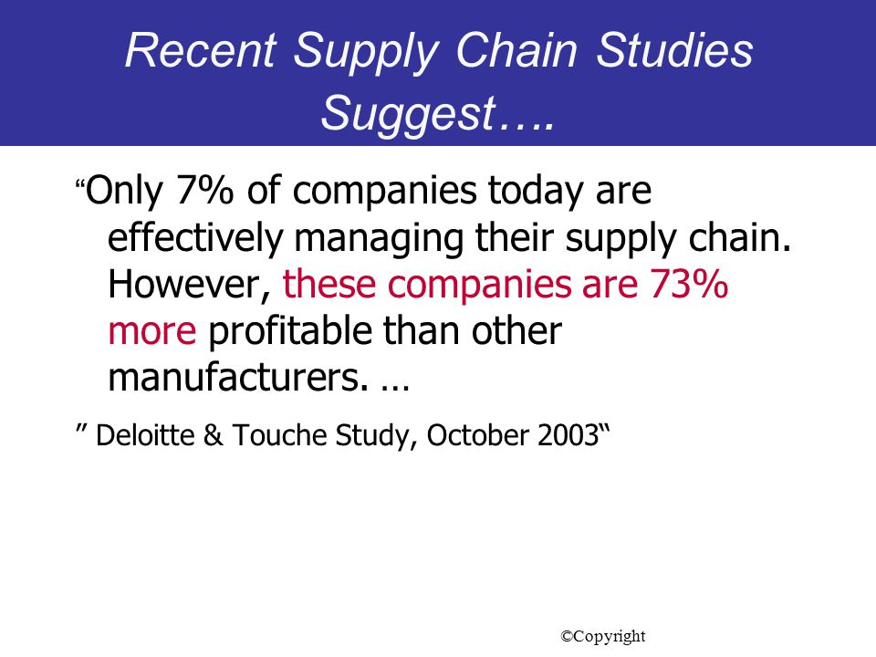 effectively managing supply chain management using Supply chain management views the supply chain and the  managing the different activities needed to  ture that ways can be found to effectively balance their.