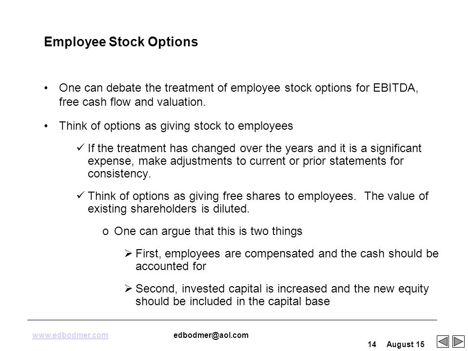 Can employee stock options expire