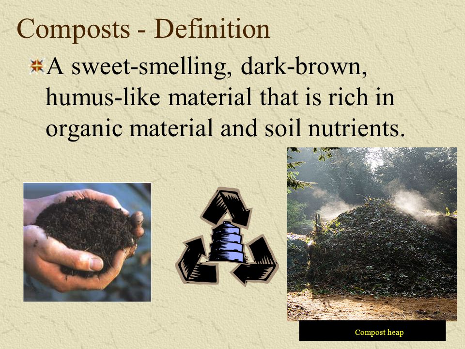 Waste disposal and recycling ppt download for Organic soil definition