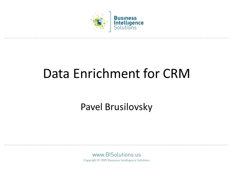 Data Enrichment for CRM