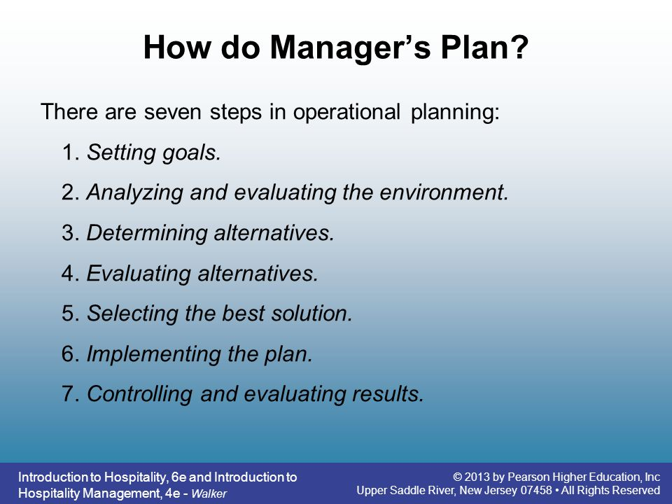 How do Manager's Plan