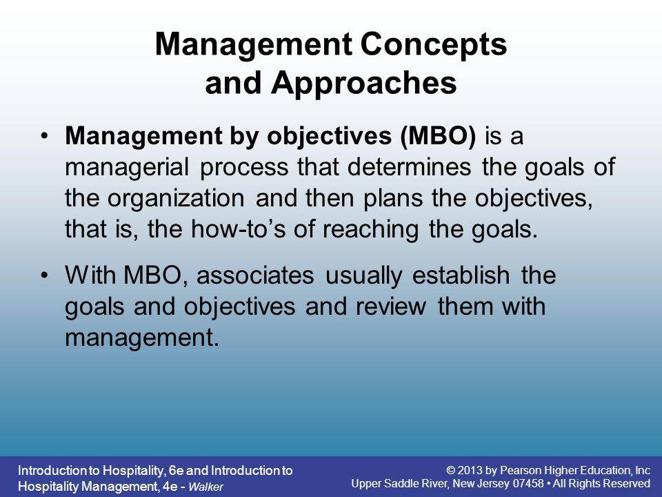 Management Concepts and Approaches