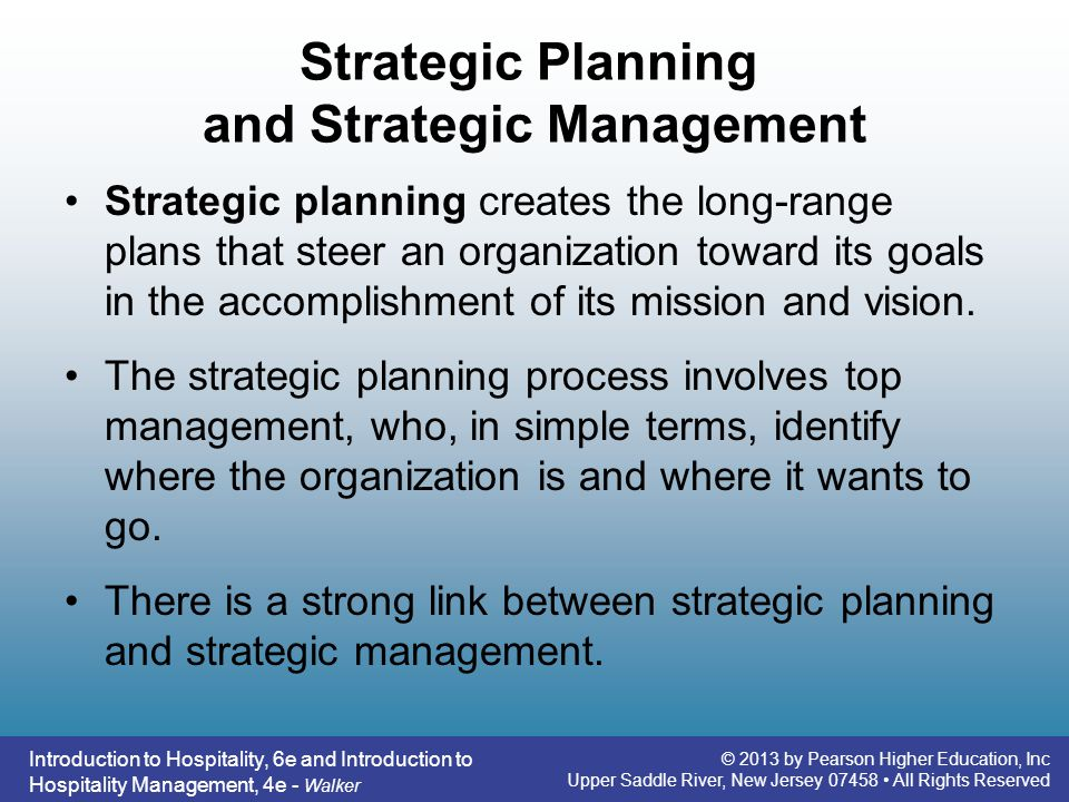 Strategic Planning and Strategic Management