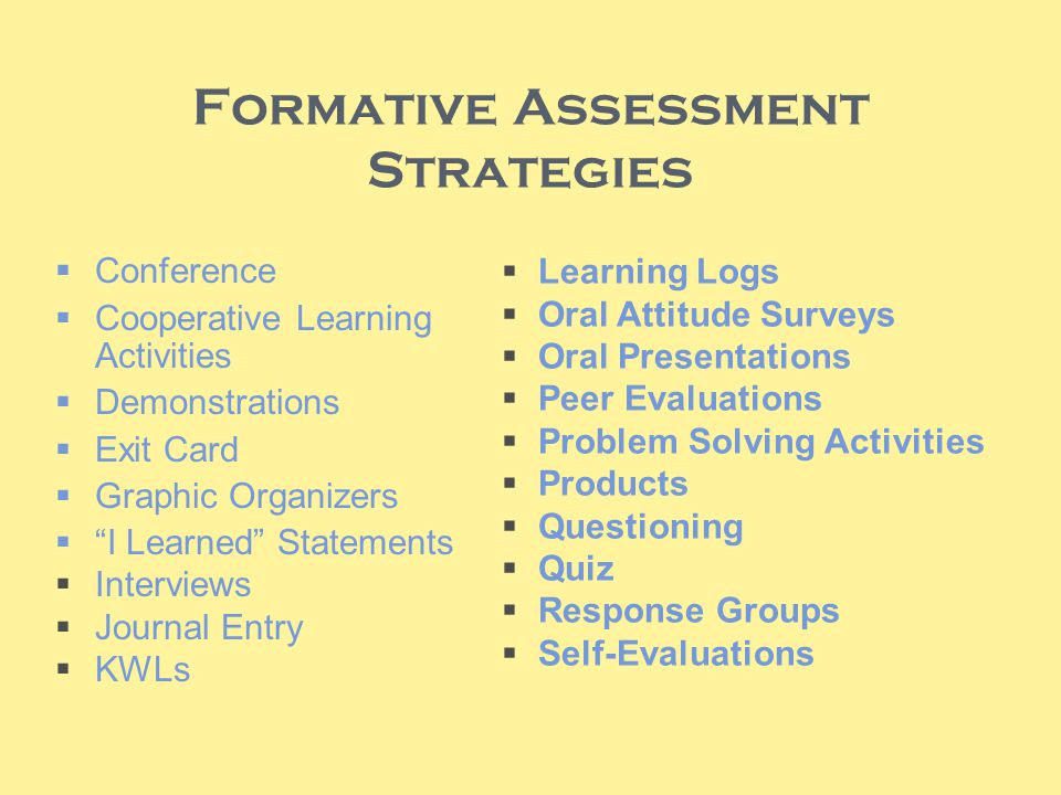 16 Formative Assessment Strategies