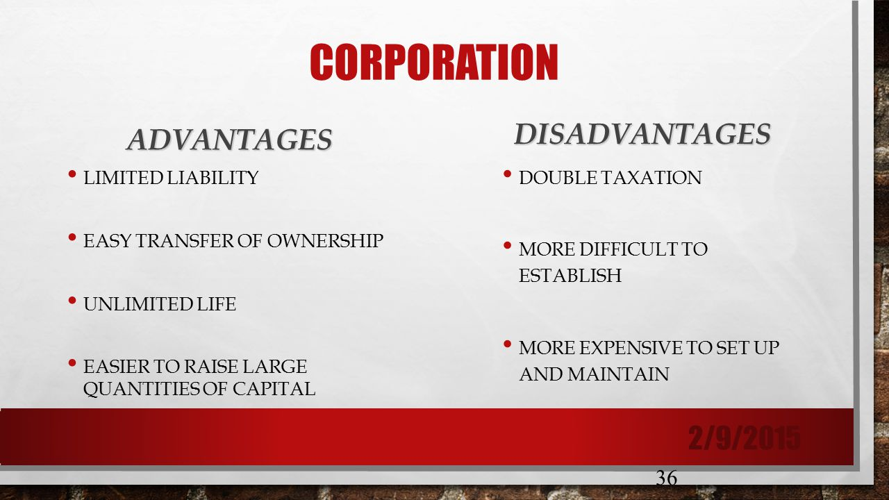 advantages of large corporation Simply the advantages are increase more knowledge and experience achieve high salary become part of a large diaspora you have time to reflect lots of perks disadvantages disparity of income what are the advantages/disadvantages of working in a multinational corporation with thousands of.