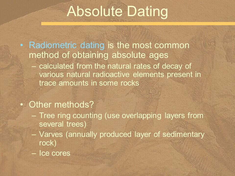 What Are Some Other Radiometric Dating Methods
