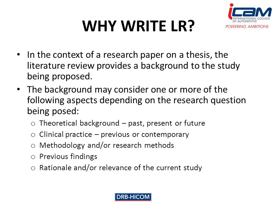 where does the literature review go in a research paper Thesis literature review how to write a literature review for a research paper thesis 1 there you go, your literature review is written.