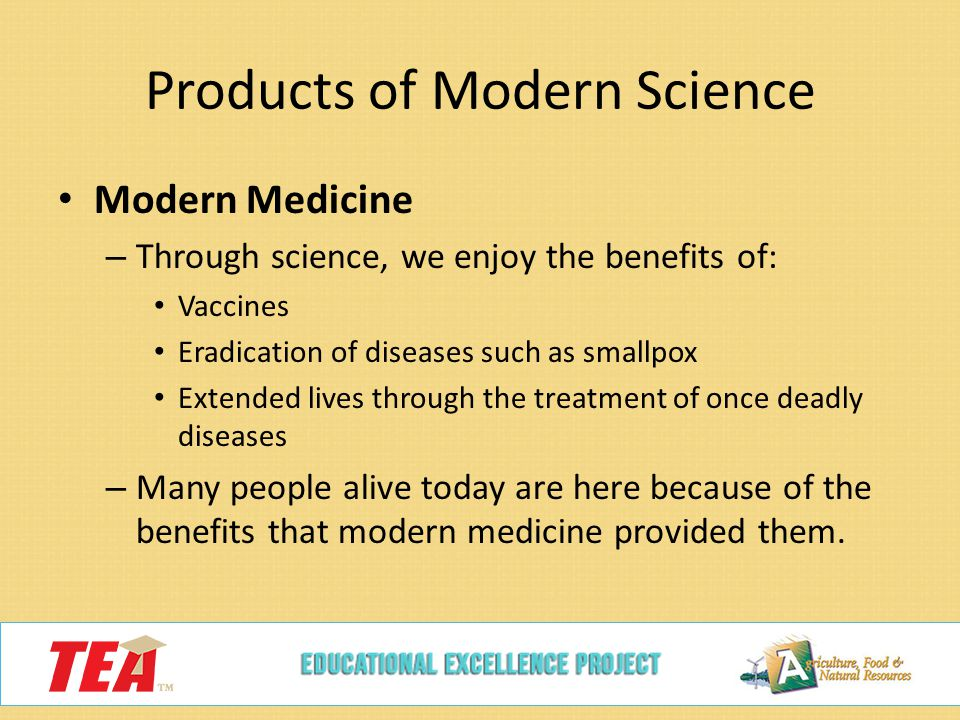 advantages modern medicine Modern medicine: the leading cause of death a mountain of statistics compiled by a team of researchers, led by drs gary null, phd and carolyn dean md, nd, has become the 'poster-study' for this sickening phenomenon.